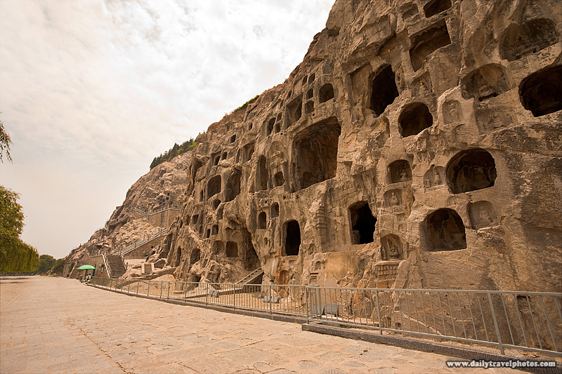 Buddhist Cave Longmen Grottoes Small Caves Walkway - Luoyang, Henan, China - Daily Travel Photos