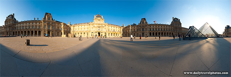 User-Controlled 360 Degree Panorama Louvre Courtyard - Paris, France - Daily Travel Photos