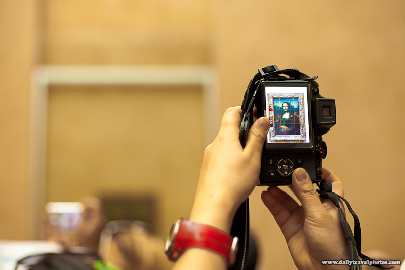 Camera Screen Capturing Mona Lisa Painting at Louvre - Paris, France - Daily Travel Photos