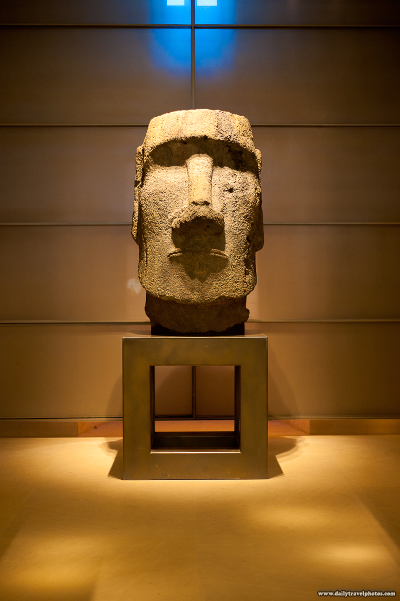 Moai Head in Pacific Polynesia Section of Louvre Museum - Paris, France - Daily Travel Photos