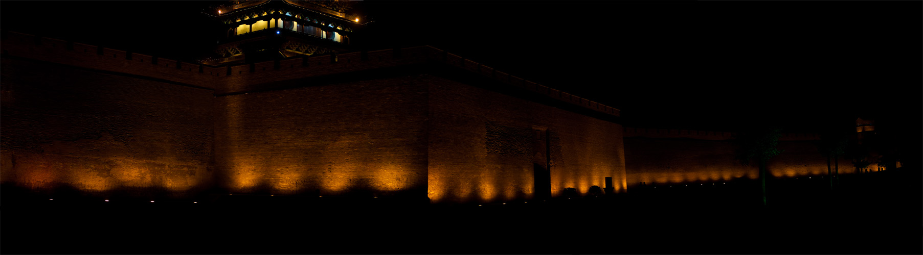 Ancient City Wall at Night - Pingyao, Shanxi, China - Daily Travel Photos