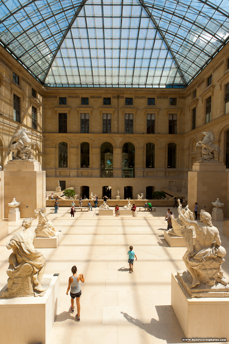 Louvre Museum Cour Marly Greek Sculptures Hall - Paris, France - Daily Travel Photos
