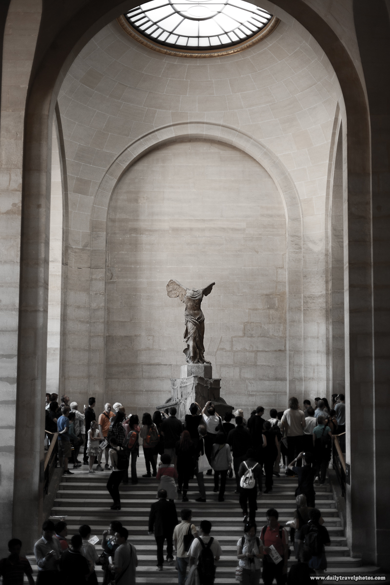 Steps Up to Winged Victor (Nike) of Samothrace Statue Louvre - Paris, France - Daily Travel Photos