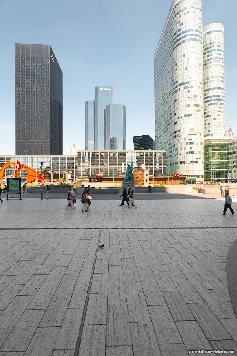Corporate Buildings and Pedestrians at La Defense - Paris, France - Daily Travel Photos