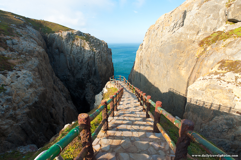 Walkway Down To Suicide Cliffs Taiwan Straits - Dongyin, Matsu Islands, Taiwan - Daily Travel Photos