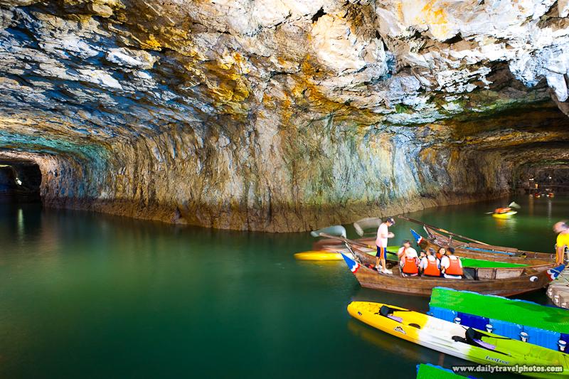 Beihai Tunnel Military Boat Facility Tourist Canoe - Nangan, Matsu Islands, Taiwan - Daily Travel Photos