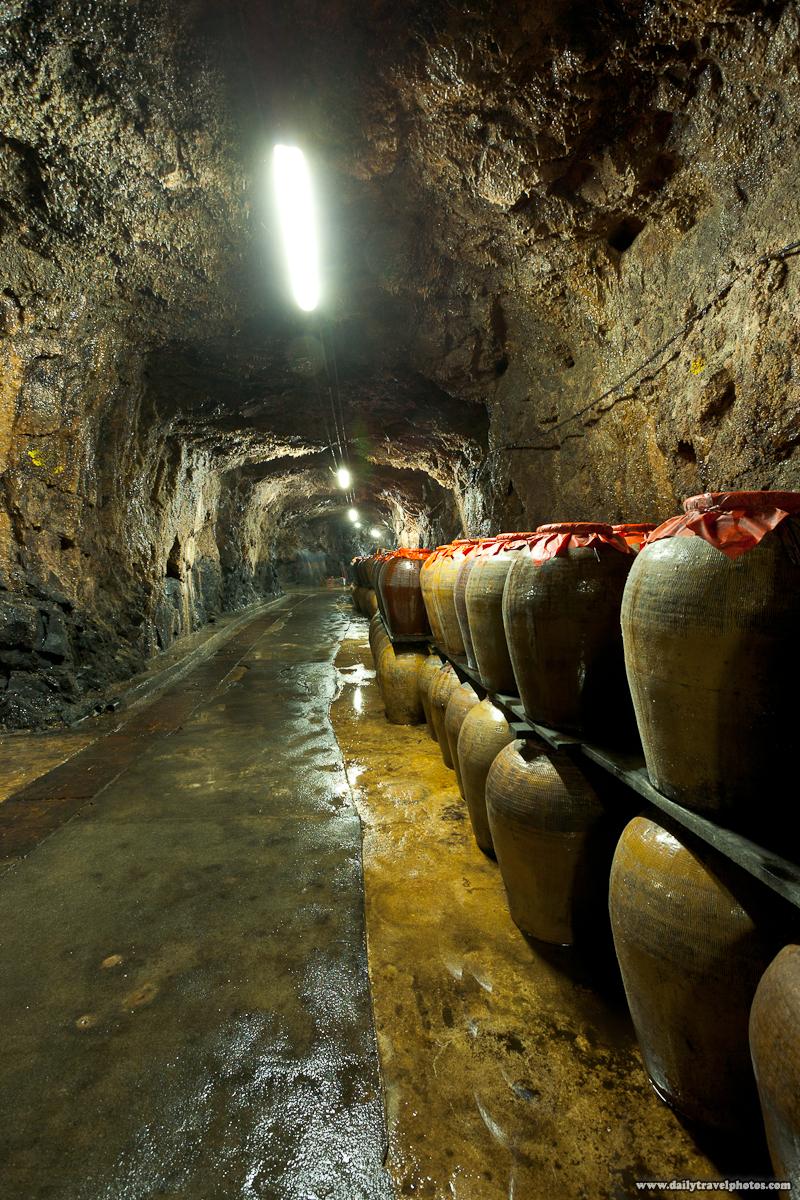 Tunnel 88 Military Cave Holding Distilled Liquor in Jars - Nangan, Matsu Islands, Taiwan - Daily Travel Photos