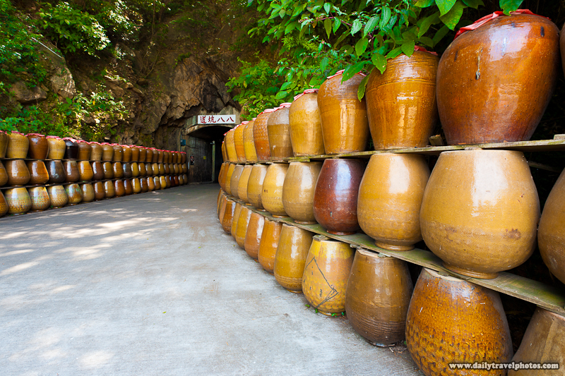Empty Jars Entrance Tunnel 88 Caves Matsu Distillery - Nangan, Matsu Islands, Taiwan - Daily Travel Photos