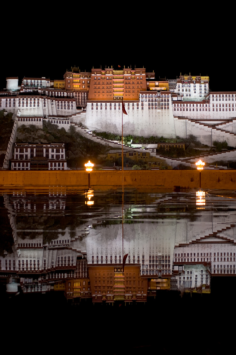 Potala Palace Reflection Pool Water After Rain - Lhasa, Tibet - Daily Travel Photos