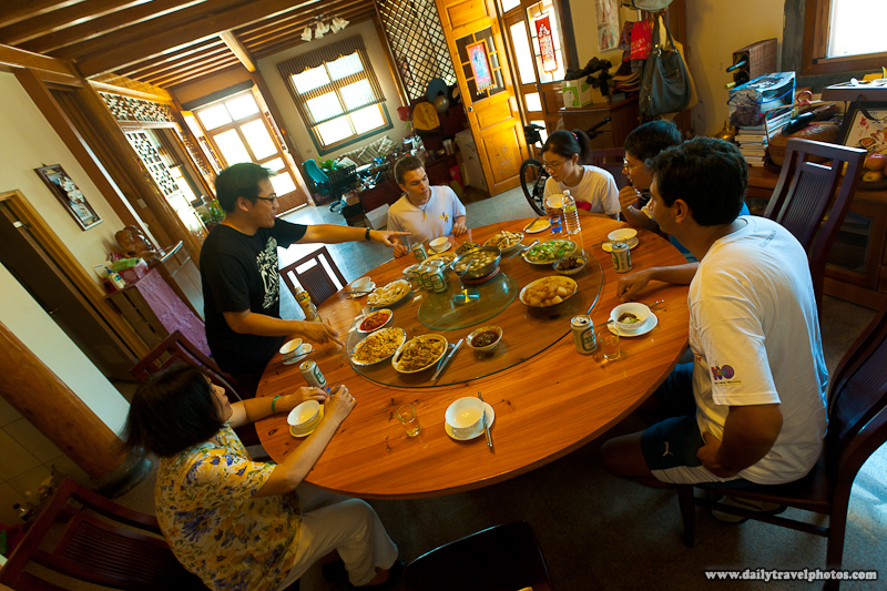 Home Cooked Meal At Host Family In Traditionally Built Home - Nangan, Matsu Islands, Taiwan - Daily Travel Photos