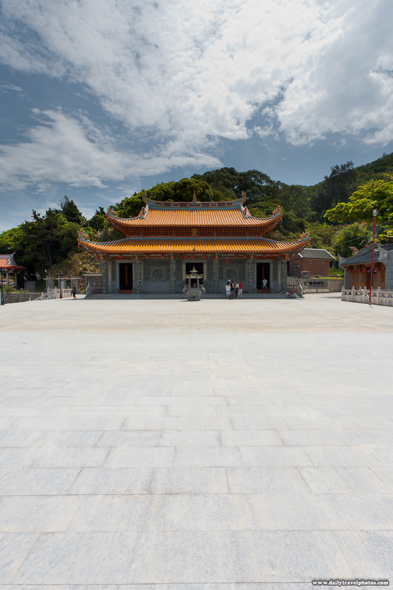 Magang Mazu Temple Courtyard Sky - Nangan, Matsu Islands, Taiwan - Daily Travel Photos