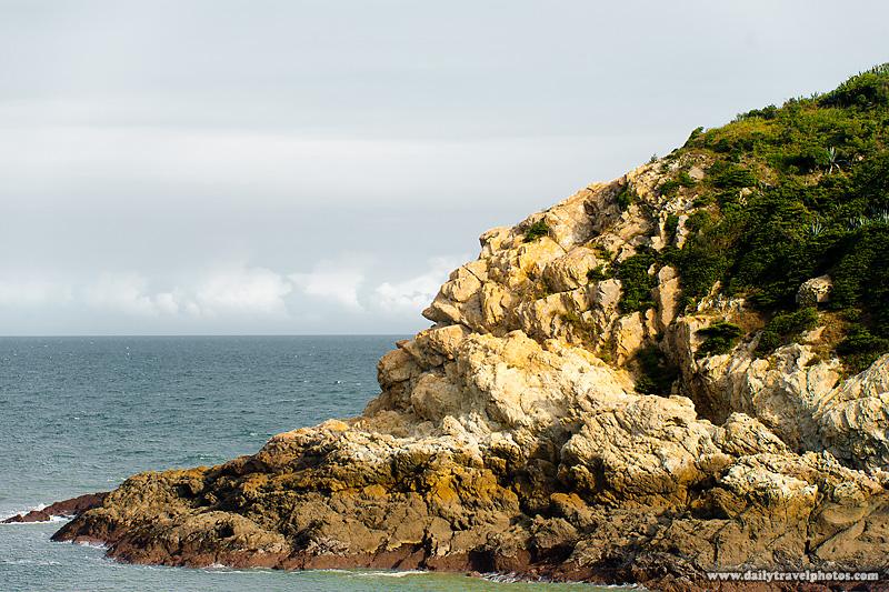 Ocean and Rock Formation Resembling Native American Indian - Nangan, Matsu Islands, Taiwan - Daily Travel Photos