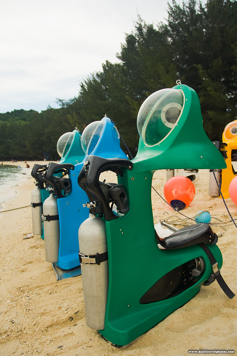 Personal Underwater Snorkeling Diving Vehicles Scooters - Pulao Manukan, Sabah, Borneo, Malaysia - Daily Travel Photos