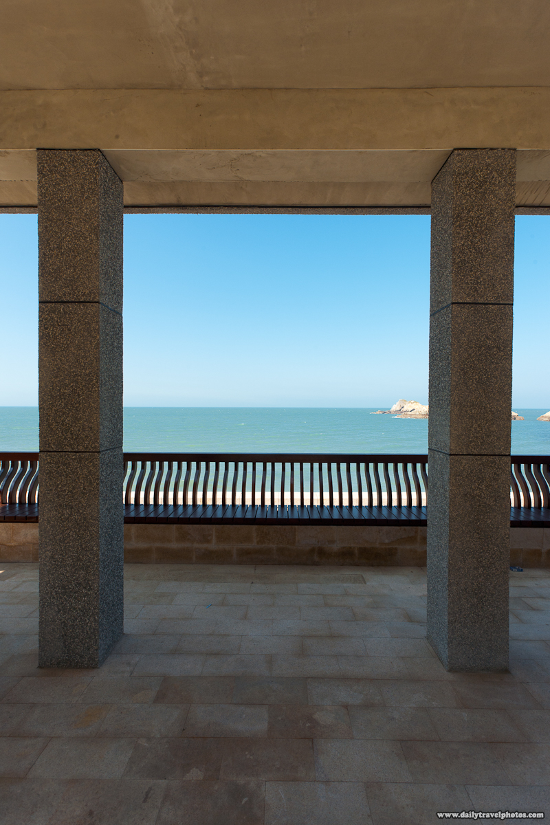 Shaded Seaside Rest Area Ocean View - Juguang, Matsu Islands, Taiwan - Daily Travel Photos
