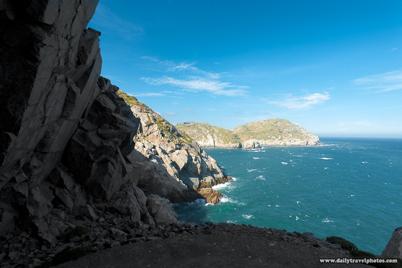 Natural Seaside Cliffs Landscape End of Military Tunnel - Dongyin, Matsu Islands, Taiwan - Daily Travel Photos