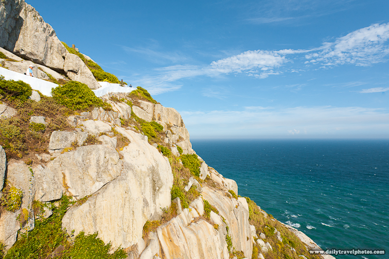 Path Carved into High Seaside Cliff Along Ocean - Dongyin, Matsu Islands, Taiwan - Daily Travel Photos