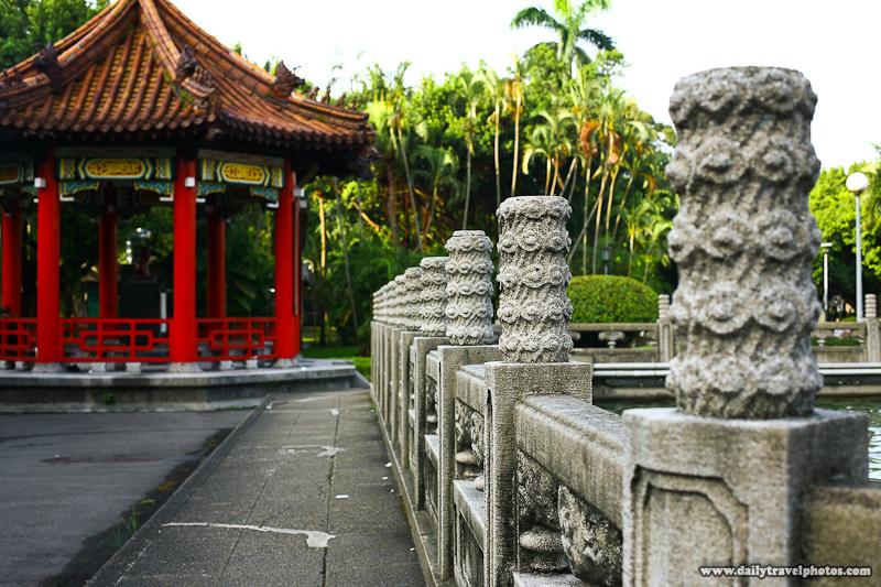 228 Peace Memorial Park Pavilion and Stone Fence - Taipei, Taiwan - Daily Travel Photos