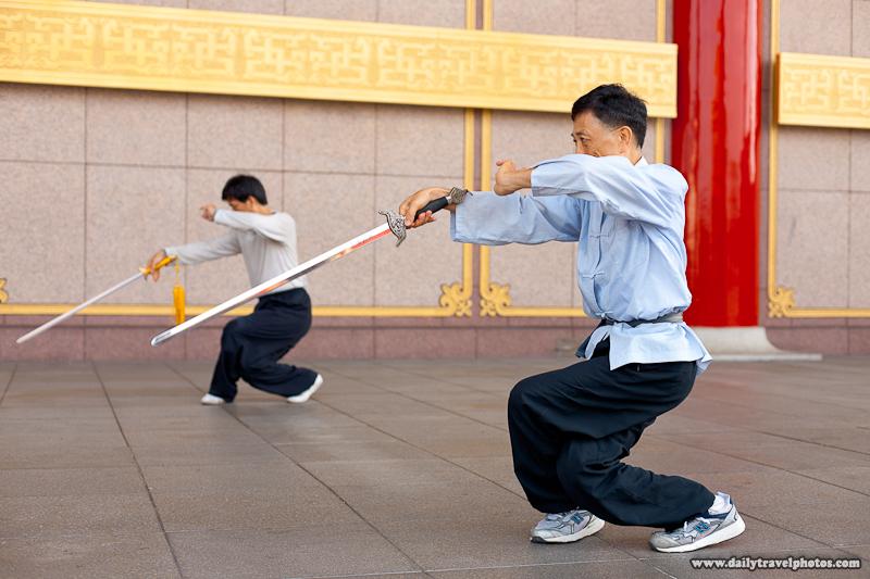 Tai Chi Chuan with Swords at National Theater - Taipei, Taiwan - Daily Travel Photos