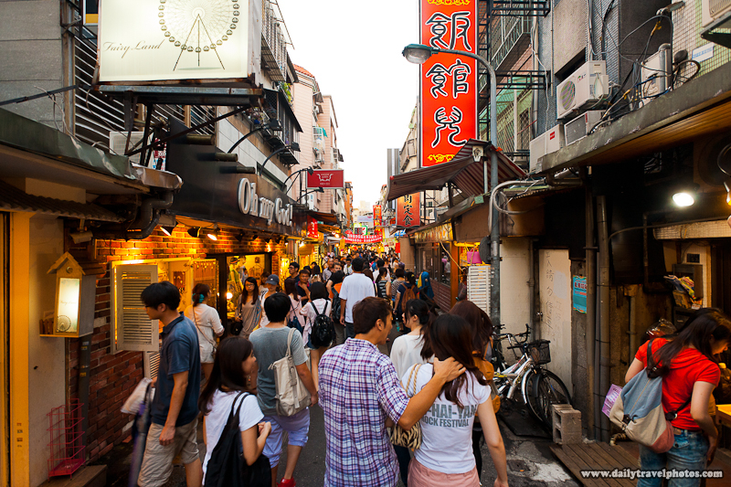 People Moving Down the Alleyways of Shida Night Market - Taipei, Taiwan - Daily Travel Photos