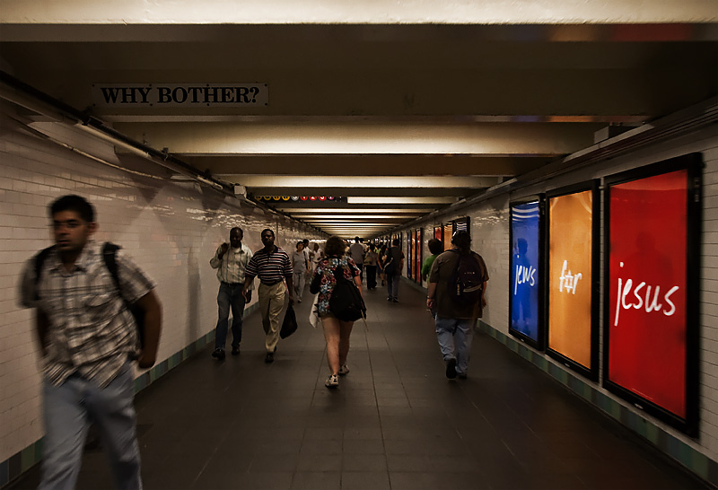 Commuter's Lament Poem Subway Overhead Signs - New York City, USA - Daily Travel Photos