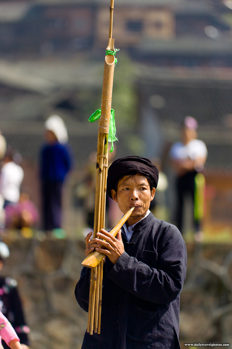 Lu Sheng Traditional Wooden Reed Instrument used by Miao Minority - Kaili, Guizhou, China - Daily Travel Photos