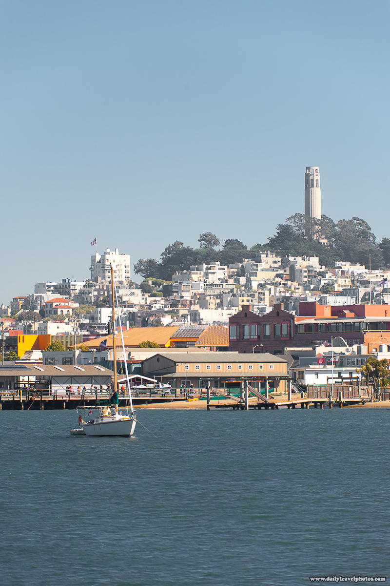 Coit Tower Seen from the Bay - San Francisco, California, USA - Daily Travel Photos