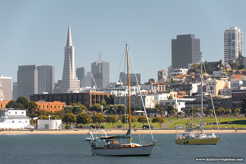 Transamerica Building in Skyline along the Bay - San Francisco, California, USA - Daily Travel Photos