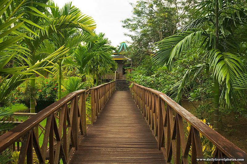 Long Wooden Deck in a Tropical Climate - Sepilok, Sabah, Borneo, Malaysia - Daily Travel Photos