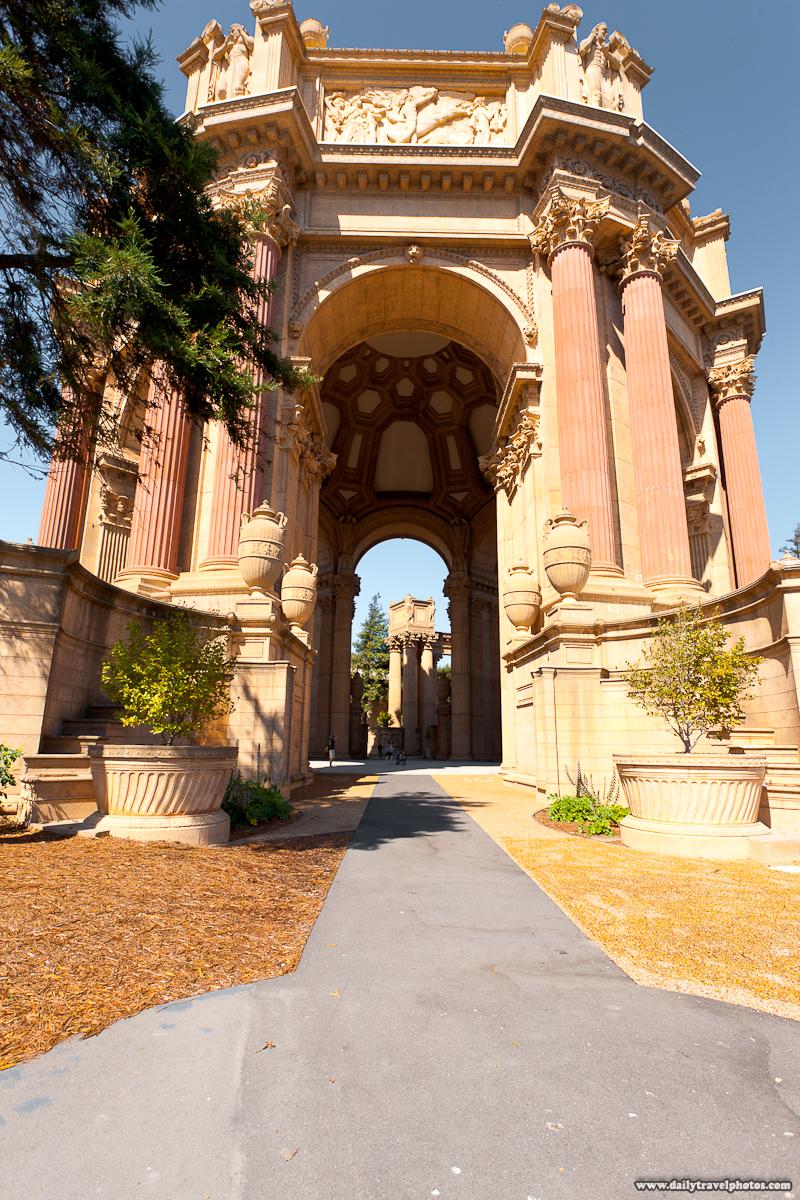 Central Dome Structure Closeup at Palace of Fine Arts - San Francisco, California, USA - Daily Travel Photos