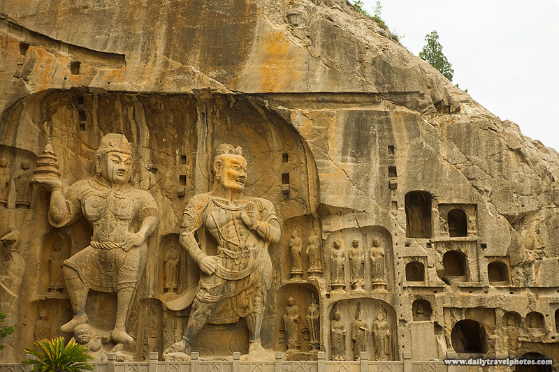 Longmen Grotto Buddhist Carvings in the Main Cave - Luoyang, Henan, China - Daily Travel Photos