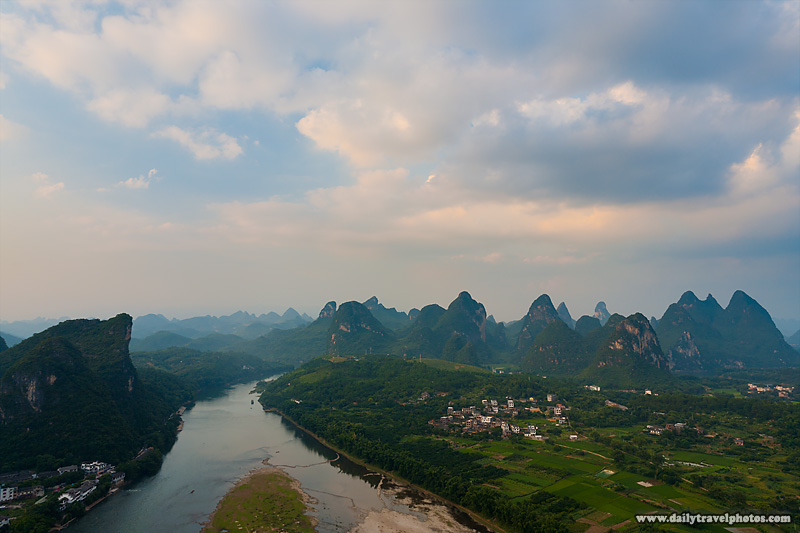 Li River and Karst Formations Chinese Countryside - Yangshuo, Guanxi, China - Daily Travel Photos