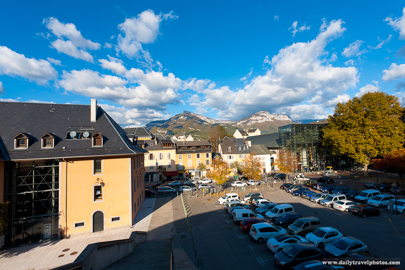 Mountains Surrounding Downtown of Alps City Pre-Processed - Chambery, France - Daily Travel Photos
