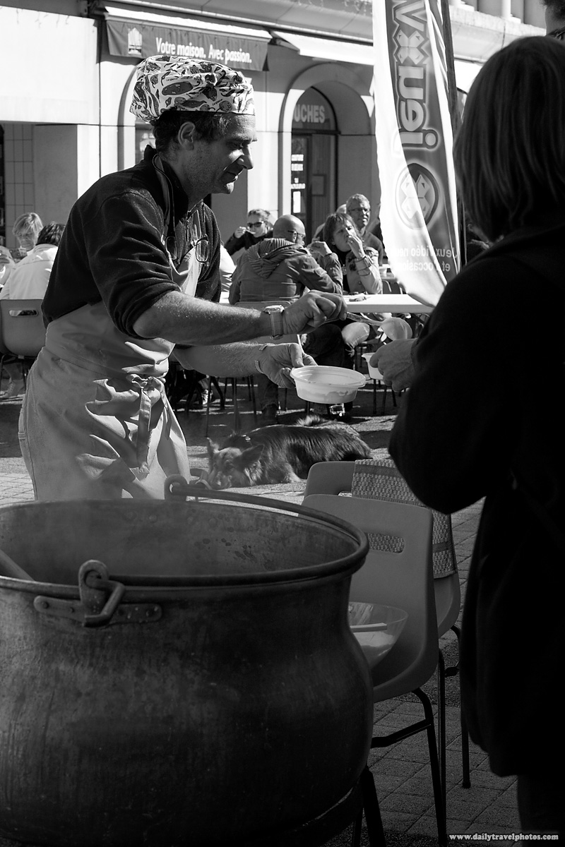 Soup Ladled from Giant Cauldron - Albertville, France - Daily Travel Photos