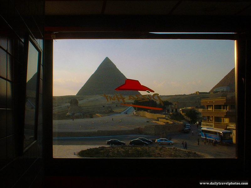 Pizza Hut View of Giza Pyramids - Cairo, Egypt - Daily Travel Photos