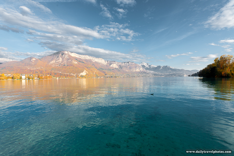 Annecy Lake View of Surrounding Mountains - Annecy, Haute-Savoie, France - Daily Travel Photos