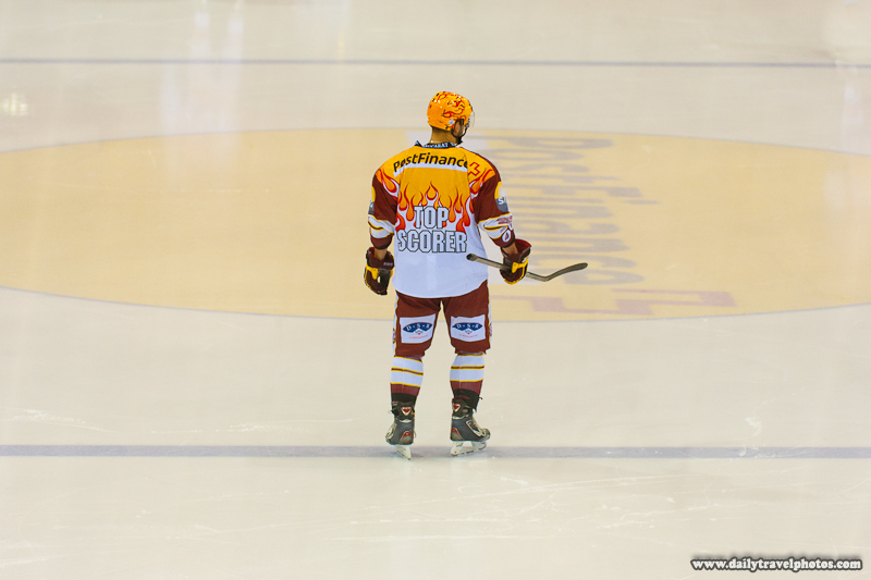 Strange Swiss Ice Hockey League Top Scorer Jersey - Geneva, Switzerland - Daily Travel Photos