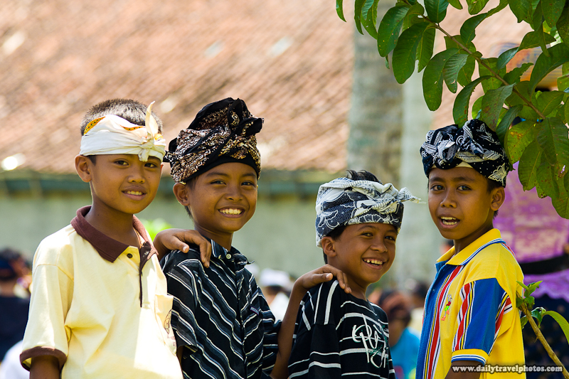 Young Balinese Boys React Happily to my Camera - Ubud, Bali, Indonesia - Daily Travel Photos