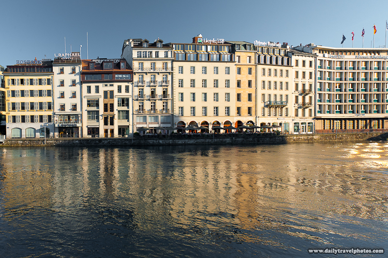 Rive Waterfront Traditional Swiss Office Buildings - Geneva, Switzerland - Daily Travel Photos