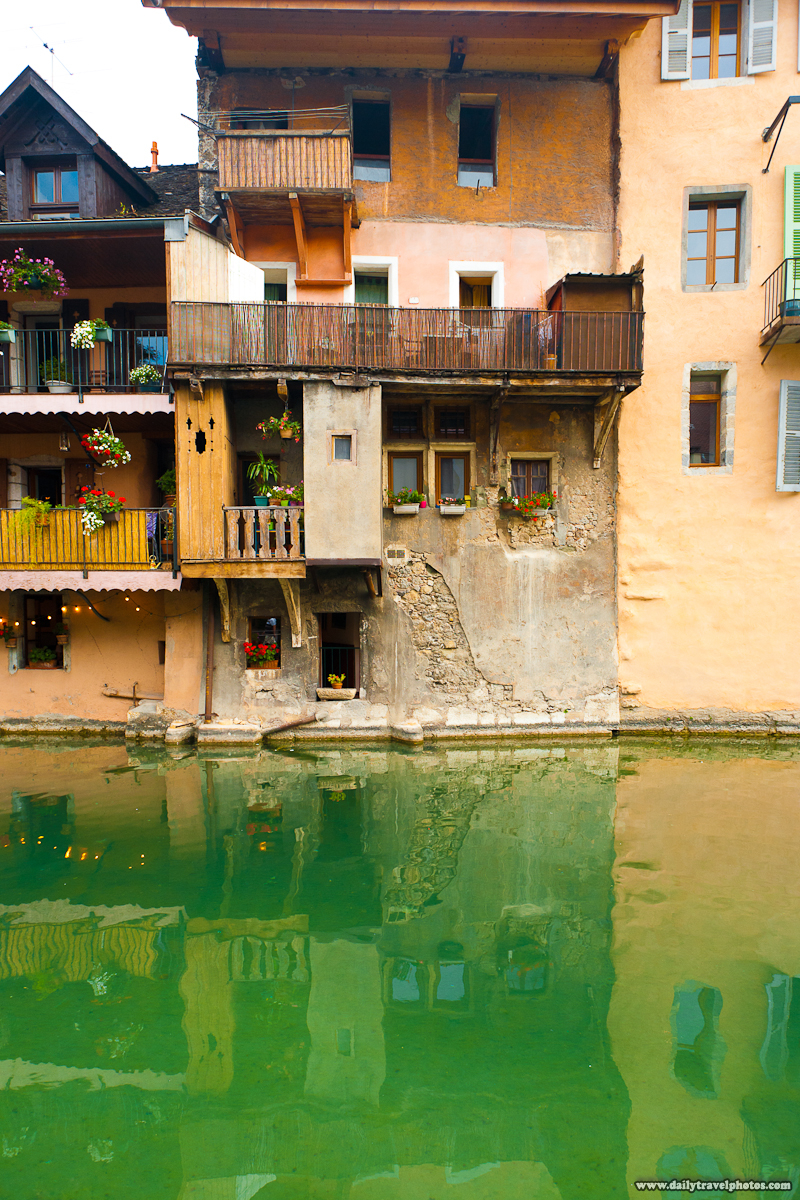 Traditional Savoyarde Houses Built Along a Canal - Annecy, Haute-Savoie, France - Daily Travel Photos