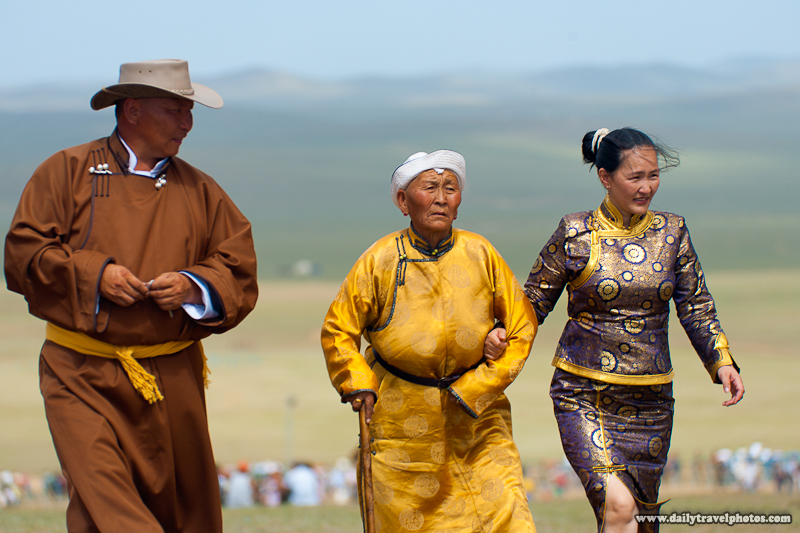 Mongolian Family in Traditional Clothes in Plains - Ulaan Baatar, Mongolia - Daily Travel Photos