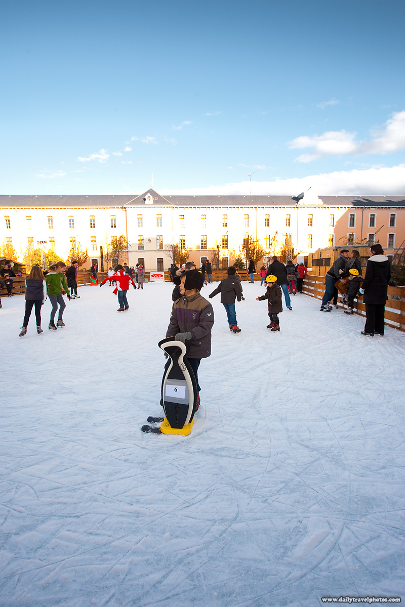 Children Skate at Winter Outdoor Ice Skating Rink - Annecy, Haute-Savoie, France - Daily Travel Photos