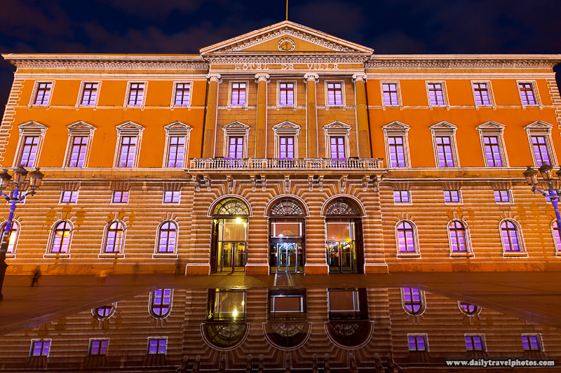 Annecy City Hall Light Show - Annecy, Haute-Savoie, France - Daily Travel Photos