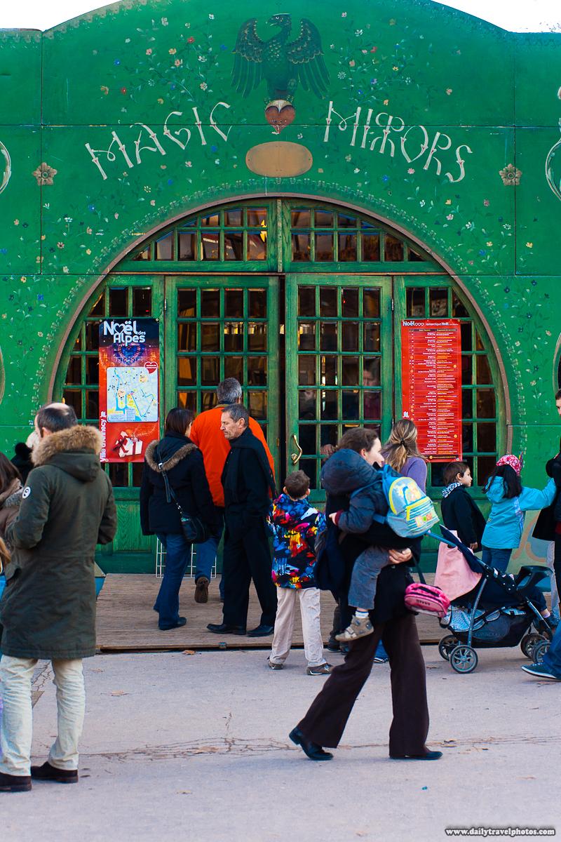 Magic Mirrors Entrance Temporary Tourist Exhibit - Annecy, Haute-Savoie, France - Daily Travel Photos