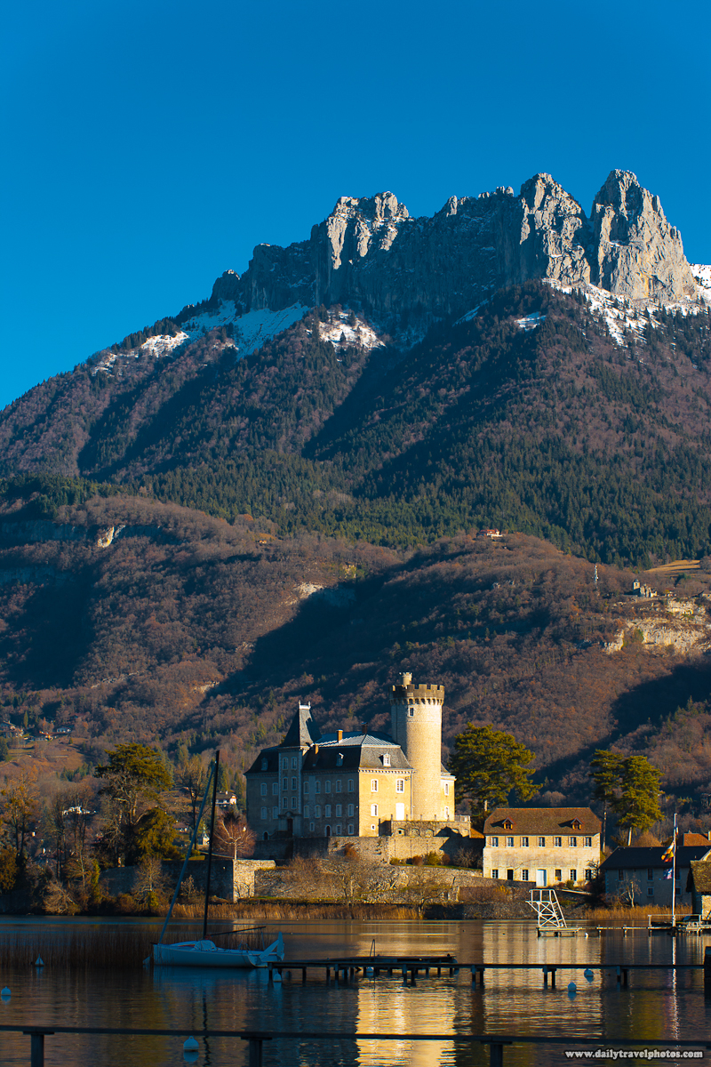 Chateau Ruphy French Castle Base of French Alps Mountains - Duingt, Haute-Savoie, France - Daily Travel Photos