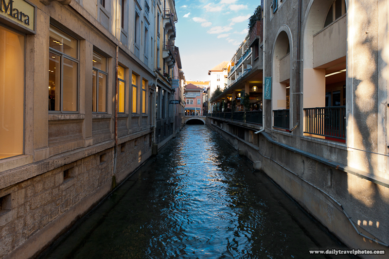 Mountain Water Canal Flowing Through Old City Earning it Nickname Venice of the Alps - Annecy, Haute-Savoie, France - Daily Travel Photos