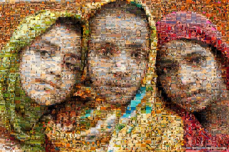 Portrait of 3 Sikh Girls Mosaic - Many Places, Around The World - Daily Travel Photos