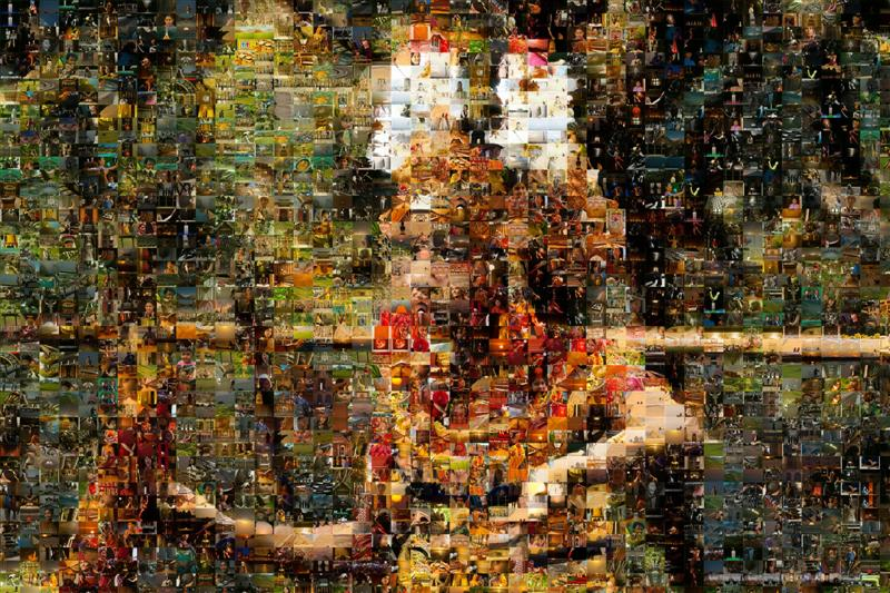 Young Bali Dancing Girl Mosaic - Many Places, Around The World - Daily Travel Photos