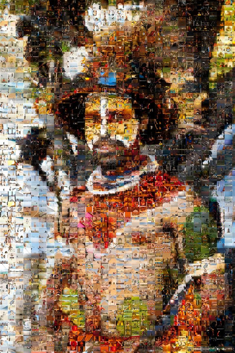 Papua New Guinea Tribesman Mosaic - Many Places, Around The World - Daily Travel Photos