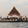Riverside Buddhist Temple Photo: Wat Kanlayannamit, one of several Buddhist temples located on the banks of the Chao Phraya river.