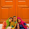 Young Sikh Girls Photo: Cute Sikh girls sit in front of a Gurudwara door (ARCHIVED PHOTO on the weekends - originally photographed 2009/05/23).